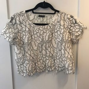 Zara Lace crop t-shirt FREE w PURCHASE $50+